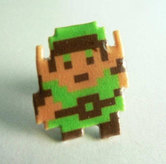 hyrule hero - legend of zelda link pin