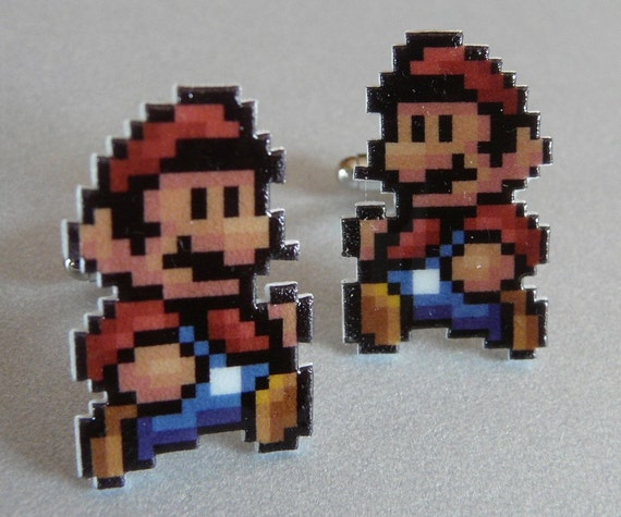 SALE It's-a me - super mario 3 cufflinks