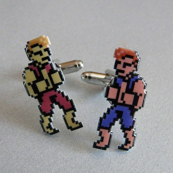 sibling rivalry - double dragon cufflinks
