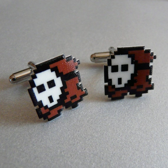 too shy - super mario shy guy cufflinks