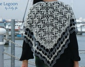Blue Lagoon Crocheted Shawl Pattern in PDF File
