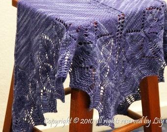 Bella Knitting Shawl in PDF File
