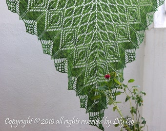 Gathering Leaves Crocheted Shawl in PDF File