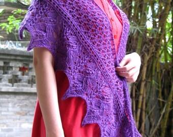 Liliiflora Knitting Shawlette Pattern in PDF