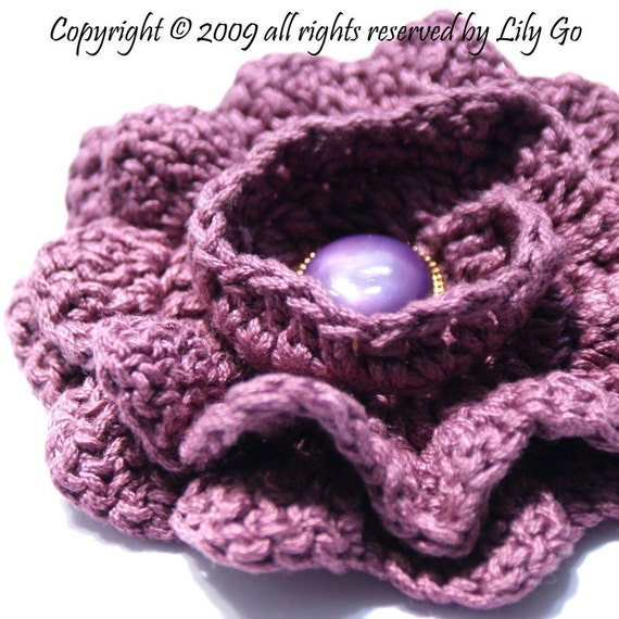 No-Seaming Crocheted Flower Pattern in PDF File