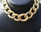 Big Bold Goldtone Vintage necklace