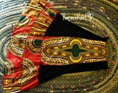 Order Seal Up - Red Dashiki Nights Harvest High Waist/ Skirt/ Dress