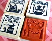 Monster rubber stamps for teachers