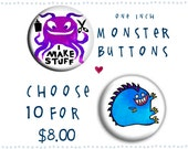Monster Buttons - choose 10