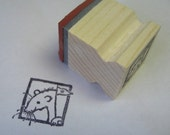 Rat - rubber stamp