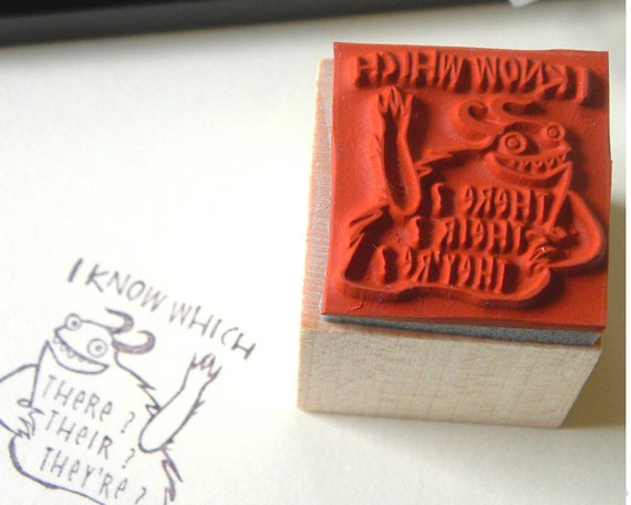 I Know Which - rubber stamp