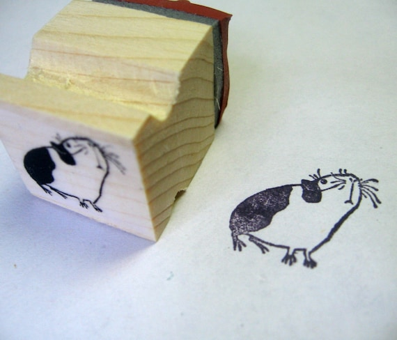 Guinea Pig - rubber stamp