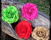 Felt Rose Hair Clip  BowFairies IvyLane
