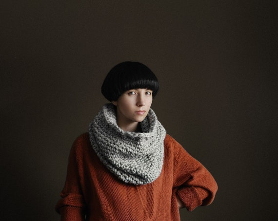 The Nantucket Cowl in Pony Grey