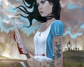 Alice Madness Returns Limited Edition Print 13x19 Cate Rangel