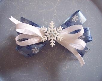 ON SALE Snowflake Christmas Bow