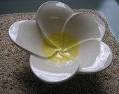 Tropical Yellow Plumeria Ceramic Bowl