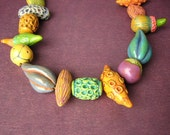 SALE Polymer Pod necklace