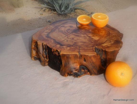 Natural Olive Burl Wood Cutting Board Or Serving Platter Live