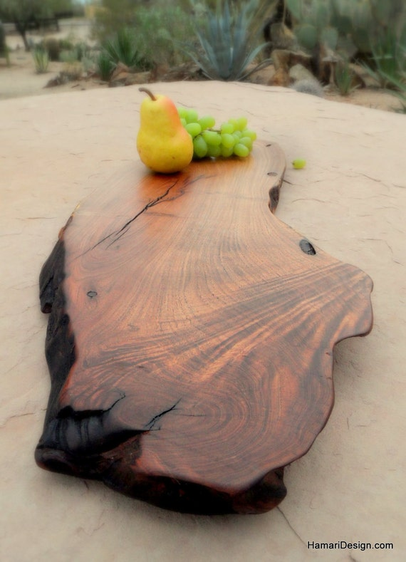 Natural Mesquite Wood Cutting Board Or Serving Platter Live
