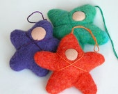 Felted STARS - Pdf Tutorial - Felt Ornament - small felted beings that fit in a child's pocket - from Handwork Studio -Instant Downloads