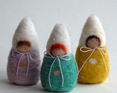 Needle Felted Winter Children / Baby Gnomes - DIY Tree Ornament - PDF Instructions - Waldorf Inspired - from Handwork Studio