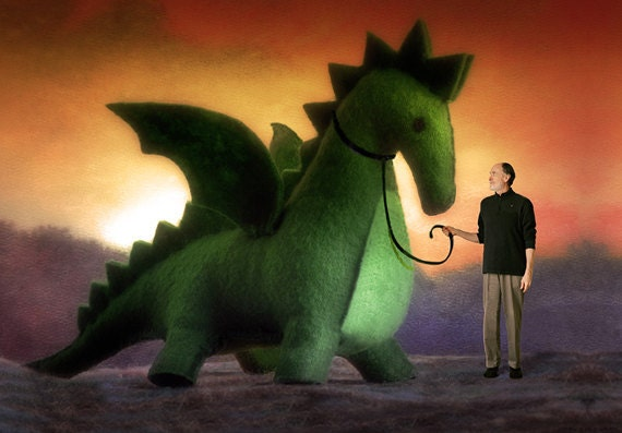In love with the Dragon - Dragon/Dinosaur Patttern - PDF Instruction - Handwork Studio