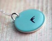 Midair Necklace - A handmade pendant with sterling chain