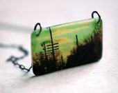 Sunset Journey Necklace - A handmade pendant with sterling chain