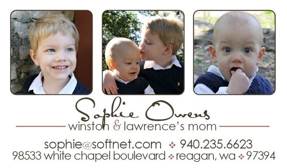 Photo Mommy Calling Cards