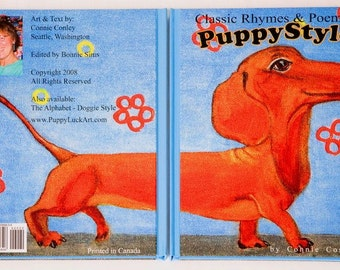 SALE - Classic Rhymes and Poems - Puppy Style featuring DOGS - Direct from the Author, childrens book, whimsical, colorful