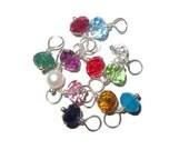 Add a crystal or pearl 6mm birthstone drop