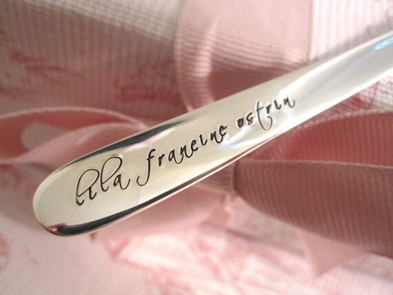 Baby's first sterling silver spoon