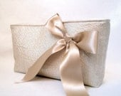 Silver and Bronze recycled upcycled Krista evening handbag purse