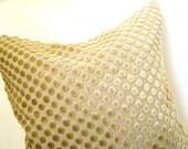 Gold Velvet Dot Pillow Sham