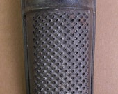 Vintage Old Tin Nutmeg Grater Kitchen Primitive