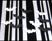 Bat Sprinkles - Confetti - Black and White - 400 Count - SAVE