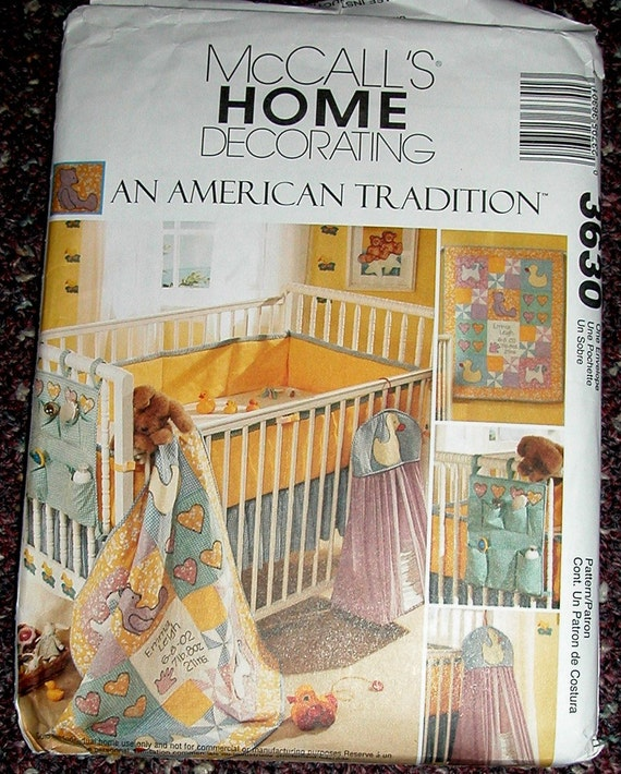 Mccalls Crib Bedding Sewing Patterns