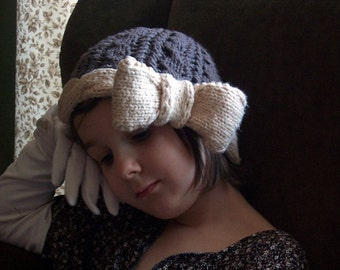 Bow Cloche Hat PATTERN on size fits all