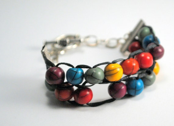 Row Counting Bracelet, knitting abacus