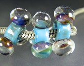 Large Hole Lampwork Glass Bead Tres Bulle 12 Chunky