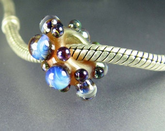Large Hole Big Hole Lampwork Glass Bead #284 SRA