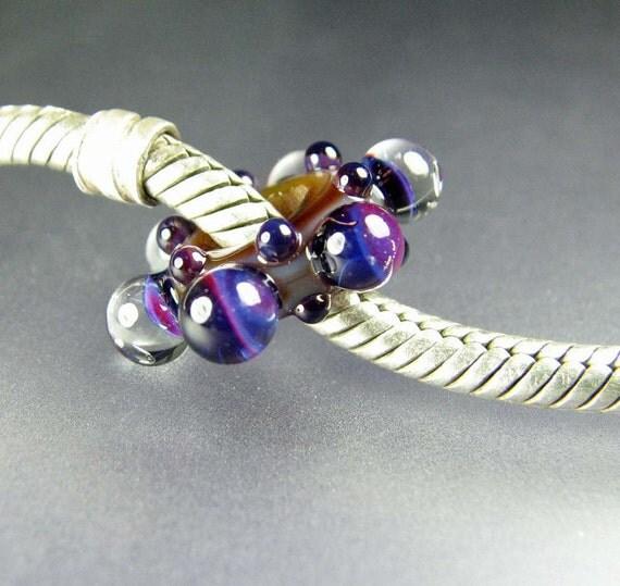 Large Hole Big Hole Lampwork Glass Bead Mood Rings SRA