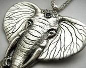 Elephant - Original Design - Sterling Silver Jewellery Art - Handcarved - NEW - Rickson Jewellery