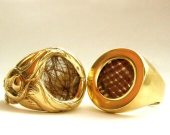 Custom Hair Wedding Rings - Modern Victorian Mourning Jewellery - Rickson Jewellery 35&36