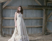 Country Ruffled Upcycled Cotton Wedding Dress