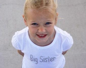 Big or Little Sister Rhinestone Bling Shirt