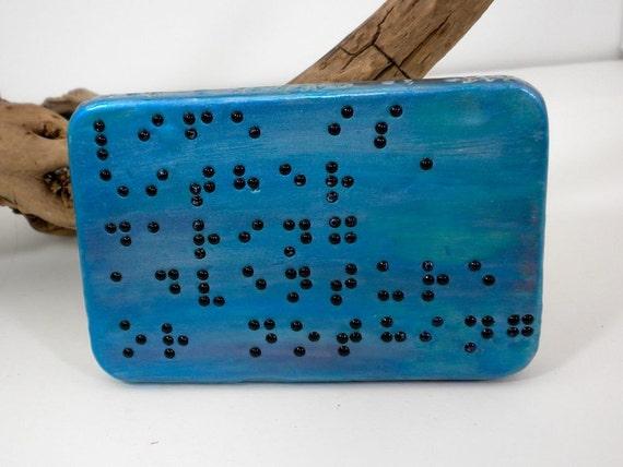 Braille Treasure Box - Jewelry Box - Rectangle Tin -Helen Keller Quote