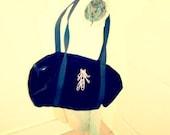 Velvety Black Ballerina Bag