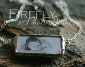 Rectangle Double Sided Photo Necklace